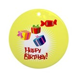 Sweets & Birthday Presents Ornament (Round)