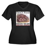Don't Feed Grizzly Bears They Women's Plus Size V-