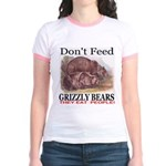Don't Feed Grizzly Bears They Jr. Ringer T-Shirt