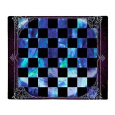 Vintage Chess Board Blanket (two-sided)