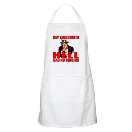"""Hell Has No Virgins"" BBQ Apron"