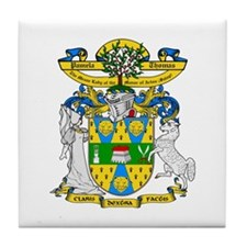 Pamela Thomas Coat of Arms Tile Coaster
