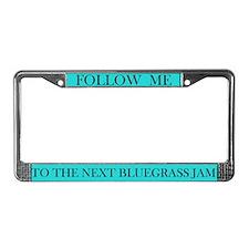 Bluegrass Jam License Plate Frame (teal)