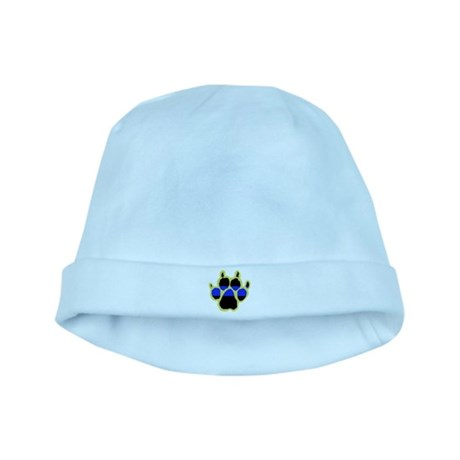 Yellow Paw Print Infant Cap