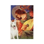 Mandolin Angel / Bull Terrier Rectangle Magnet