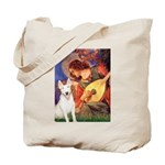 Mandolin Angel / Bull Terrier Tote Bag
