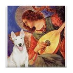 Mandolin Angel / Bull Terrier Tile Coaster
