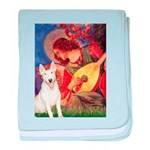 Mandolin Angel / Bull Terrier baby blanket