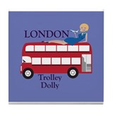 London Trolley Dolly Tile Coaster