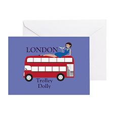 London Trolley Dolly Greeting Card