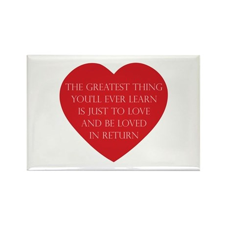 Love and be Loved Rectangle Magnets ~ Pack of 100