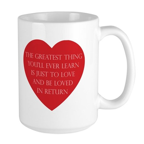 Love and be Loved Large Coffee Mug