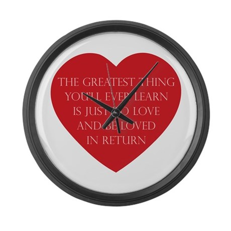 Love and be Loved Large Wall Clock