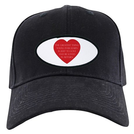 Love and be Loved Black Baseball Cap