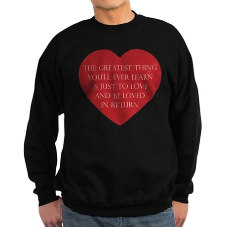 Love and be Loved Men's Dark Sweatshirt