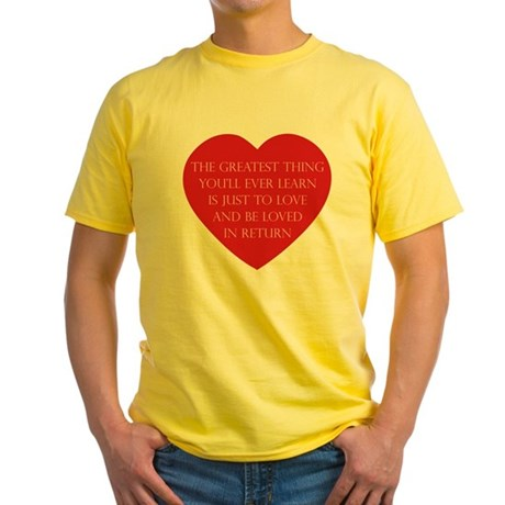Love and be Loved Men's Yellow T-Shirt