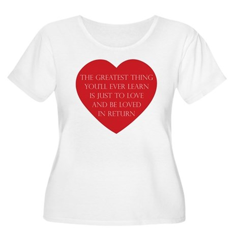 Love and be Loved Women's Plus Size Scoop Neck T-Shirt