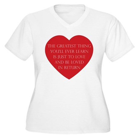 Love and be Loved Women's Plus Size V-Neck T-Shirt