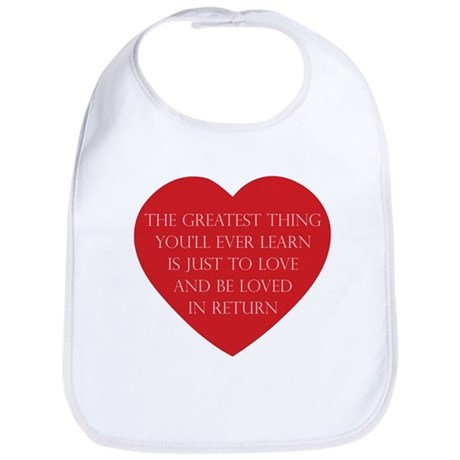 Love and be Loved Baby Bib