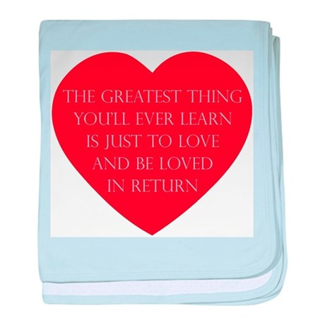 Love and be Loved Baby Blanket