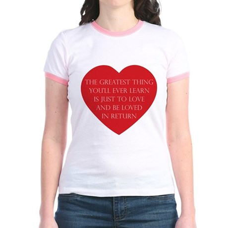 Love and be Loved Junior Ringer T-Shirt