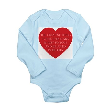 Love and be Loved Long Sleeve Infant Bodysuit