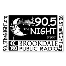 90.5 The NIGHT Rectangle Decal