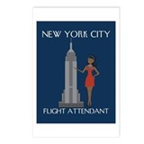 New York Flight Attendant Postcards (Package of 8)