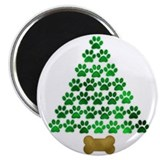 Dog's Christmas Tree Magnet
