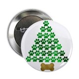 "Dog's Christmas Tree 2.25"" Button"