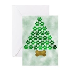 Dog's Christmas Tree Greeting Card
