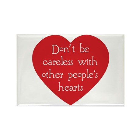 Don't be Careless Rectangle Magnets ~ Pack of 100