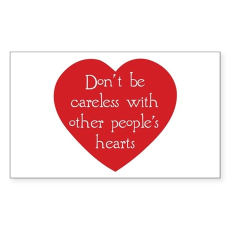 Don't be Careless Rectangle Stickers ~ Pack of 10