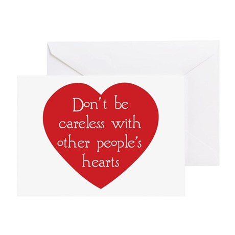 Don't be Careless Greeting Card