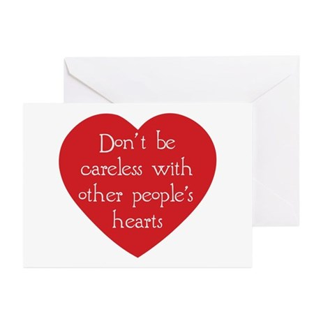 Don't be Careless Greeting Cards ~ Package of 10