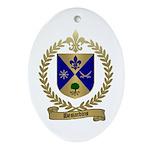 DESJARDINS Family Crest Oval Ornament