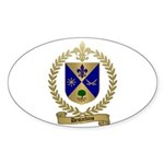 DESJARDINS Family Crest Oval Sticker