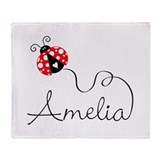 Ladybug Amelia Throw Blanket