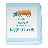 New Addition to a Logging Fam Infant Blanket