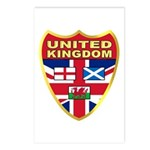 UK Badge Postcards (Package of 8)