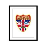 UK Badge Framed Panel Print