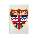 UK Badge Rectangle Magnet (100 pack)