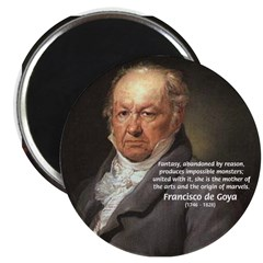 "Goya Fantasy Monster Quote 2.25"" Magnet (100 pack)"