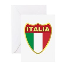 Italy Badge Greeting Card