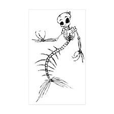 Mermaid Skeleton Sticker (Rectangle 10 pk)