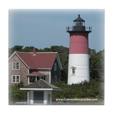 Nauset Lighthouse Tile Coaster