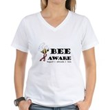 Bee Aware - Burgundy Shirt