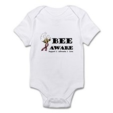Bee Aware - Burgundy Infant Bodysuit