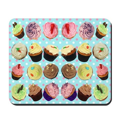 Polka Dot Cupcakes Mousepad