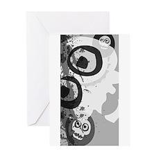 Urban Grunge Skulls Greeting Card